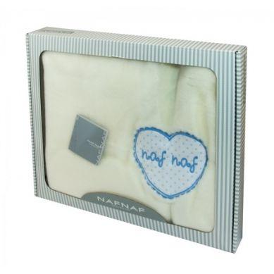 Naf Naf - Kocyk Raschell Heart Azul rozmiar 80x110 cm