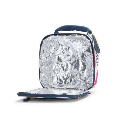 Penny Scallan - Kwadratowy Lunchbox Biało-granatowy w Gruszki