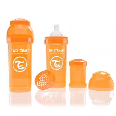 Twistshake - Butelka Anty-kolkowa 260ml Pomarańczowa