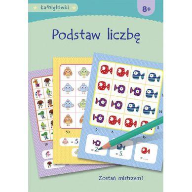Wydawnictwo Adamada - Łamigłówki. Podstaw Liczbę