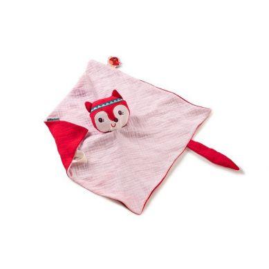 Lilliputiens - Muślinowy Komforter z Mini-Pacynką na Palec Lisiczka Alice 0 m+