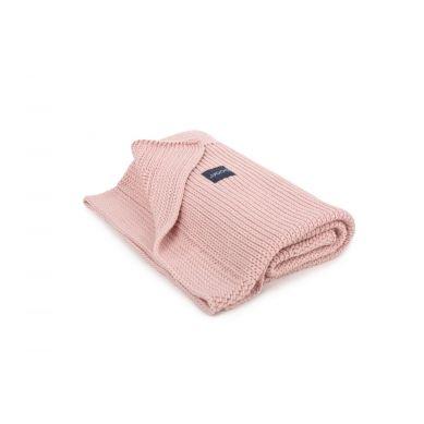 Poofi - Tkany Kocyk z Bawełny Organicznej Vintage Pink