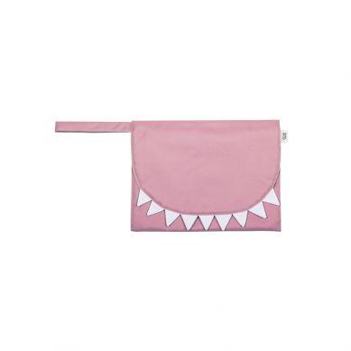 Baby Bites - Przewijak Podróżny Shark Pink