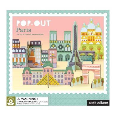 Petit Collage - Puzzle Przestrzenne Paryż