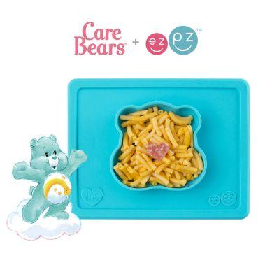 EZPZ - Silikonowa Miseczka z Podkładką 2w1 Care Bears™ Bowl Misia Słoneczne Serce Funshine Bear Turkusowa