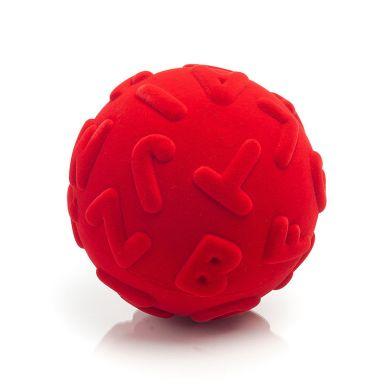 Rubbabu - Piłka Edukacyjna Sensoryczna Wielkie Litery Czerwona
