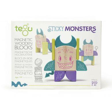 Tegu - Drewniane Klocki Magnetyczne Sticky Monsters Pip