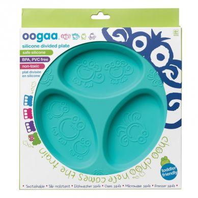 Oogaa - Silikonowy Talerzyk Trójdzielny Jewel Blue Divided Plate