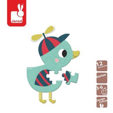 Janod - Mini Puzzle Baby Forest Kaczuszka
