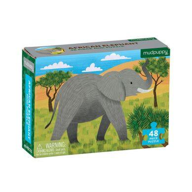 Mudpuppy - Puzzle Mini Słoń Afrykański 48 Elementów 4+