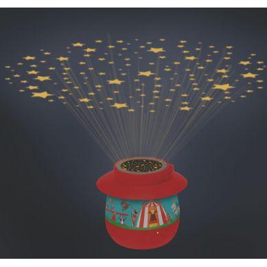 Scratch - Nocna Lampka Cyrk z Projektorem