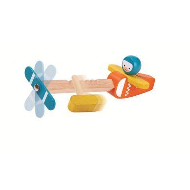 Plan Toys - Drewniany Samolot Spin N Fly
