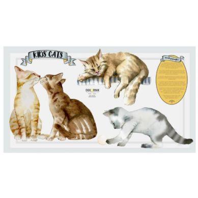 Dekornik - Zestaw Naklejek Ściennych Koty Kid's Cats 120x60cm