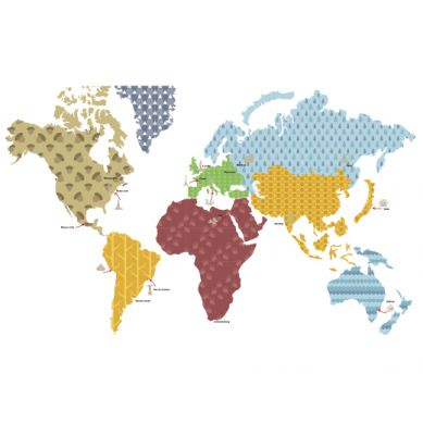Dekornik - Naklejki Ścienne Mapa 3 120x70cm