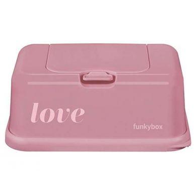 Funkybox - Pojemnik na Chusteczki Vintage Pink Love