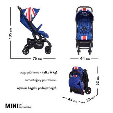 MINI by Easywalker - Buggy XS Wózek Spacerowy z Osłonką Przeciwdeszczową Union Jack Classic