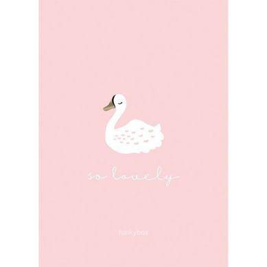 Funkybox - Plakat Dziecięcy 30x42 Pink Swan