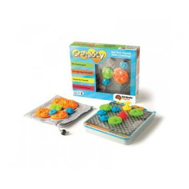 Fat Brain Toys - Gra Logiczna Kółka Zębate Crankity