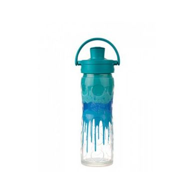 Lifefactory - Butelka Szklana Actice Cap 470 ml Blue Splash