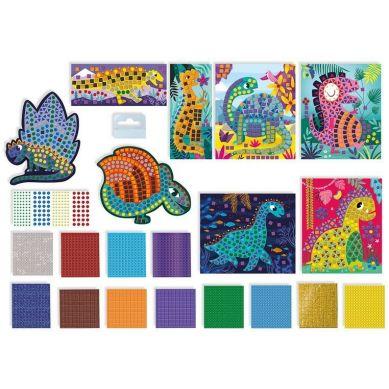 Janod - Zestaw Kreatywny Mozaika Dinozaury 4+