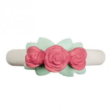 A Little Lovely Company - Gryzak Organiczny z Kauczuku Hevea Różyczki
