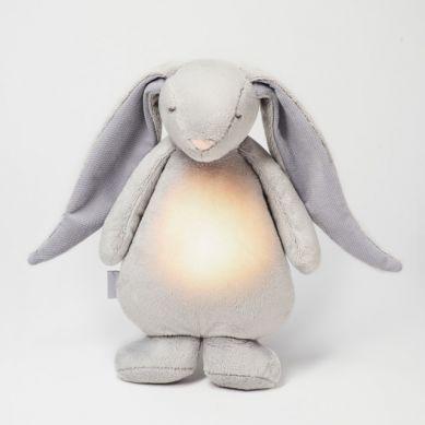 Moonie - Szumiący Króliś z Lampką Silver 0m+