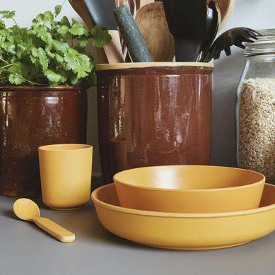 Filibabba - Bambusowy Zestaw Obiadowy Golden Mustard