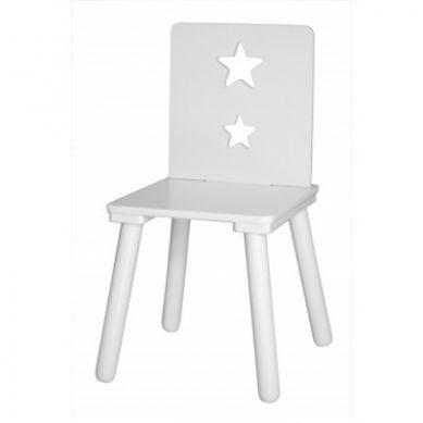 Kids Concept - Krzesełko z Gwiazdkami Białe