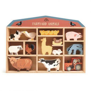 Tender Leaf Toys - Drewniane Figurki do Zabawy Zwierzęta na Farmie 3+