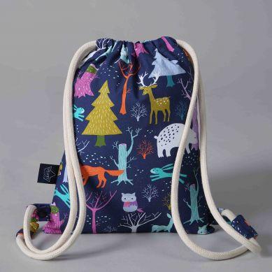 La Millou - Plecak Double Pack Velvet Collection Turquise Woodland