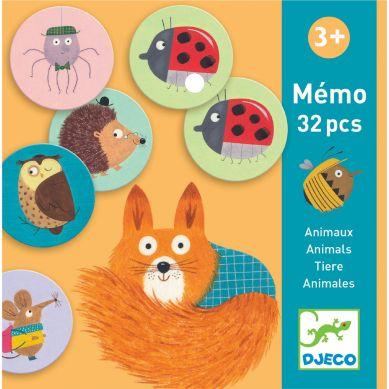 Djeco - Gra Pamięciowa Memo Zwierzątka