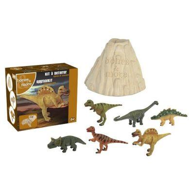 Bones&More - Duża Figurka Dinozaura Wykopalisko z Wulkanu