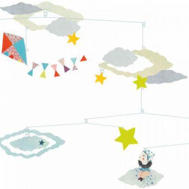 Djeco - Ruchoma Dekoracja z Głową w Chmurach