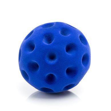 Rubbabu - Duża Piłka Sensoryczna z Mocną Fakturą Golfowa Niebieska