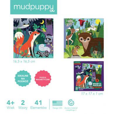Mudpuppy - Puzzle Magnetyczne Noc i Dzień w Lesie 4+
