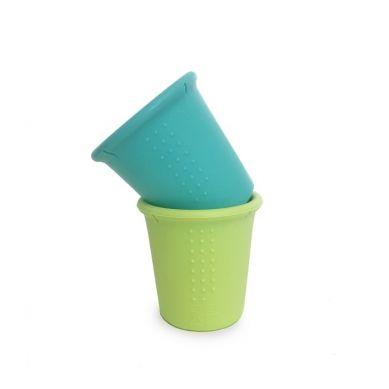Silikids - Kubki Silikonowe Sea/Lime 2szt