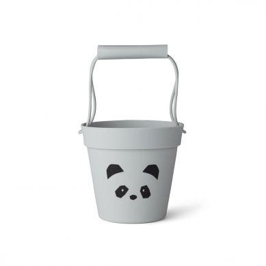 Liewood - Silikonowe Wiaderko do Piasku Panda Dumbo Grey