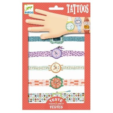 Djeco - Tatuaże Metaliczne Zegarki Wendy