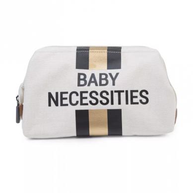 Childhome - Kosmetyczka Baby Necessities Paski Czarno-złote