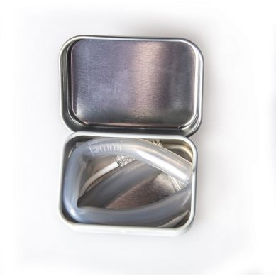 Fommi - Słomka Wielorazowa w Pudełku Grey