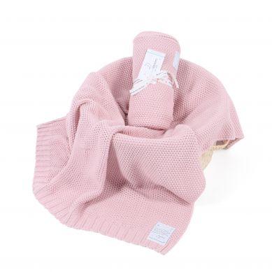 Color Stories Tkany Kocyk Cotton Classic Perłowy Różowy