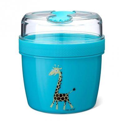 Carl Oscar - N'ice Cup™ L Pojemnik Śniadaniowy z Wkładem Chłodzący Turquoise Giraffe