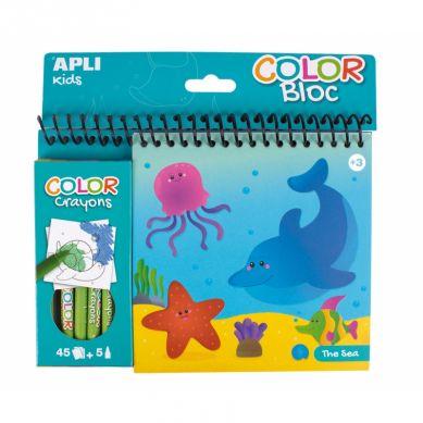 Apli Kids - Kolorowanka z Kredkami Ocean