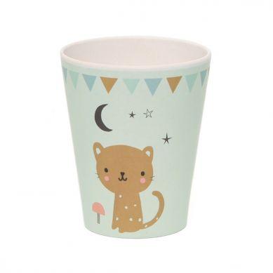 Petit Monkey - Kubeczek Bambusowy Leopard Mint