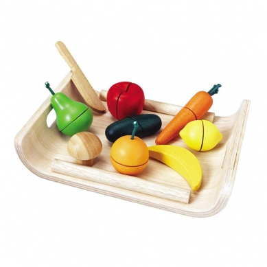 Plan Toys - Owoce i Warzywa na Tacy