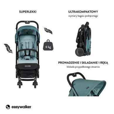 Easywalker - Buggy XS Wózek Spacerowy Z Osłonką Przeciwdeszczową Ocean Blue