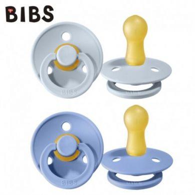BIBS - Smoczek Uspokajający Hevea 2-pack S SKY BLUE & BABY BLUE