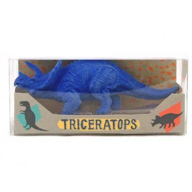 Ooly - Duża Gumka do Ścierania Dinozaur Triceratops Niebieska