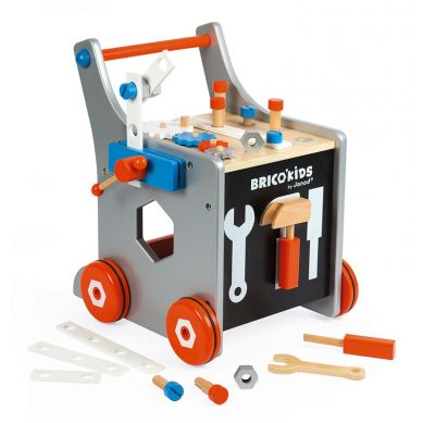 Janod - Wózek Warsztat Magnetyczny z Narzędziami Brico Kids