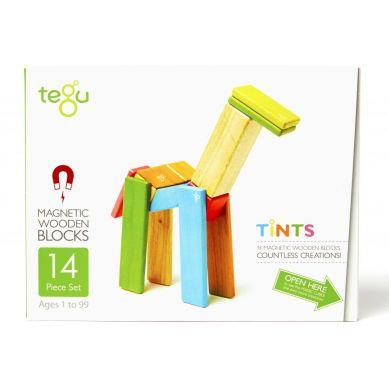 Tegu - Drewniane Klocki Magnetyczne Classics Zestaw 14szt Tints